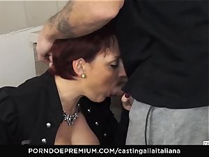 casting ALLA ITALIANA Mature sandy-haired bootie nailed deep
