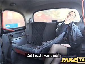 fake cab Czech gal craves a stiff sausage
