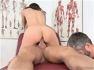 Jade Nile Has Her husband suck pipe and witness Her