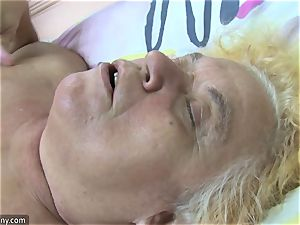 OldNanny grandma and mature milked wooly puss