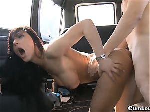 Pretty honey demon gets boinked rigid in a Van