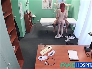 FakeHospital lovely redhead rides medic for cash