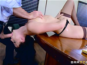 Chanel Preston gargling on Charles Deras meaty fuckpole