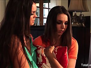 big-titted babe Alison helps Tiffany get over a breakup