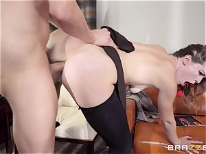 Ella Nova takes a ginormous penis down her